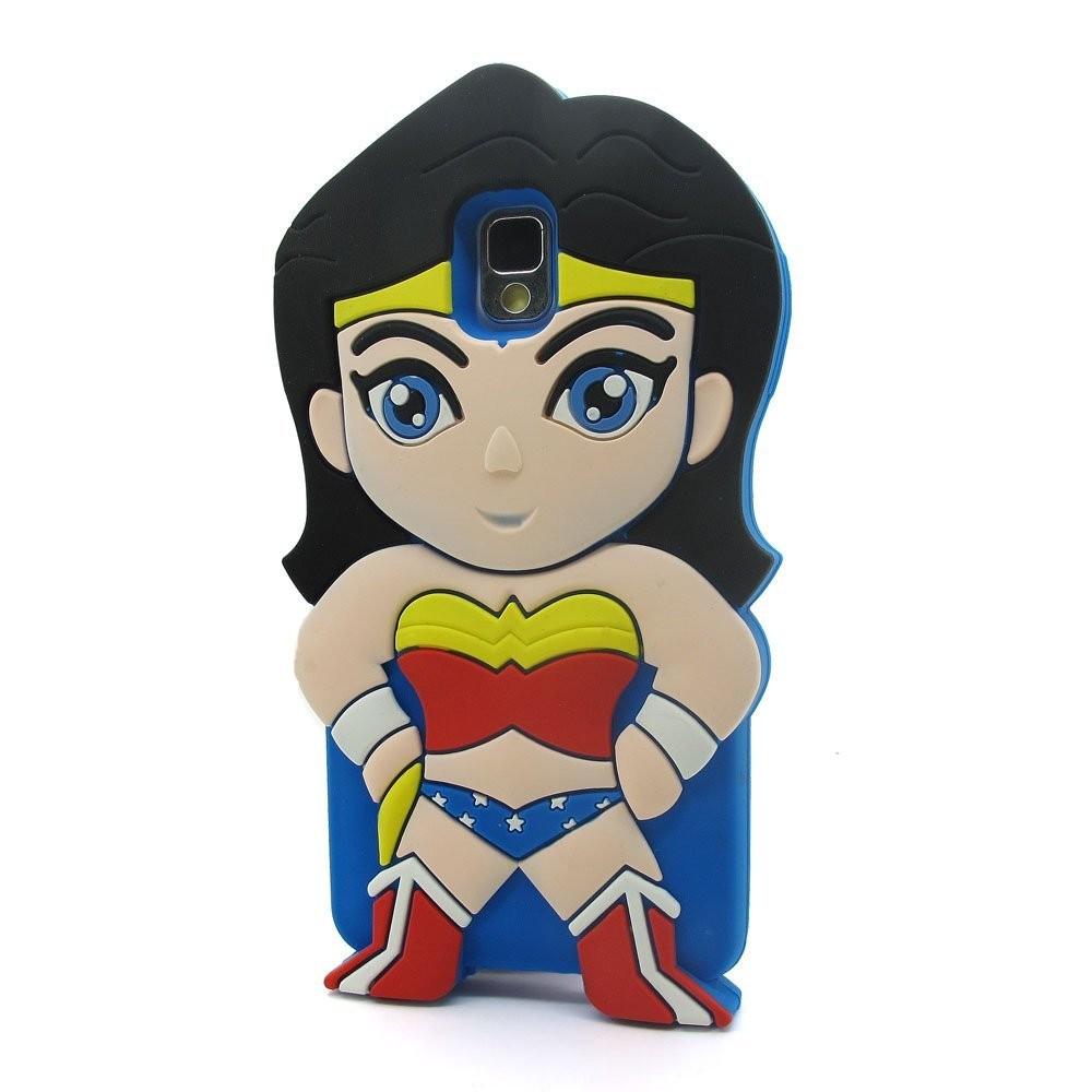 3D Cartoon Cool SuperHero Super Girl Soft Silicone Case Skin Cover.
