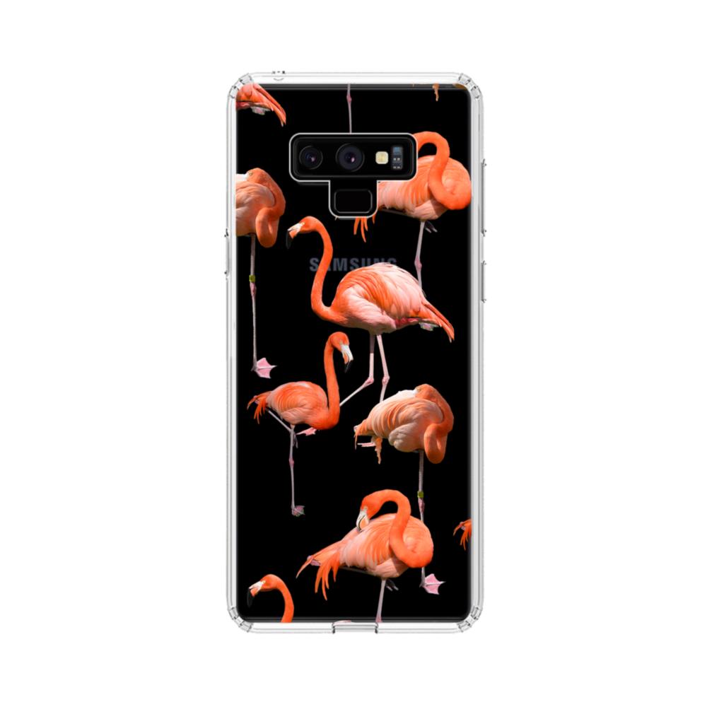 Flamingo Clipart Samsung Galaxy Note 9 Clear Case.