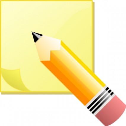 Clip art note.