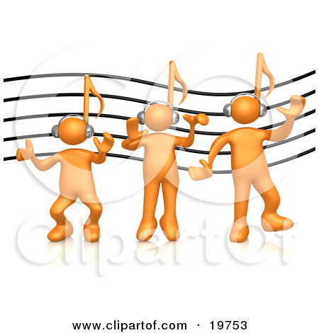Clipart music note head.