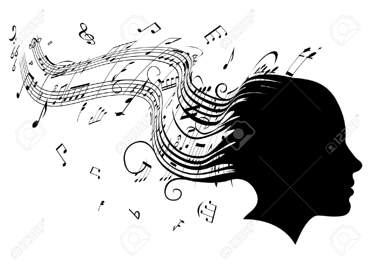 4,544 Note Head Cliparts, Stock Vector And Royalty Free Note Head.