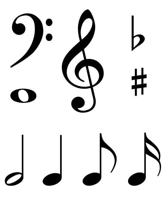 large printable music notes.