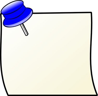 Sticky note pad and pencil clip art free vector download.