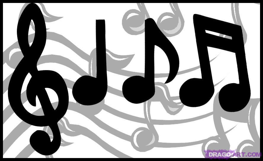 Cartoon Music Note.
