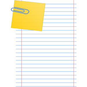 Paper Clip note page.