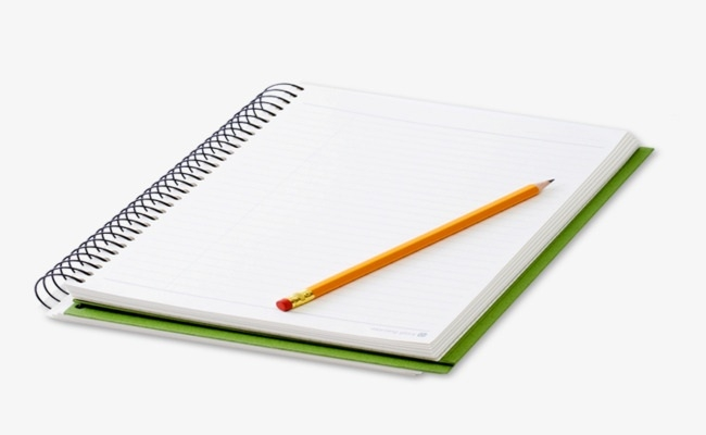 Notebook With Pencil, Notebook Clipart, Learn, Write Png.