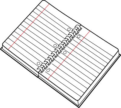 clipart notebook.