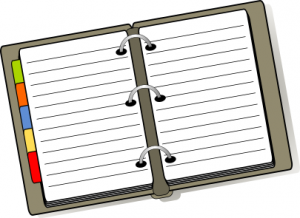 Notebook With Tabs Clip Art Download.