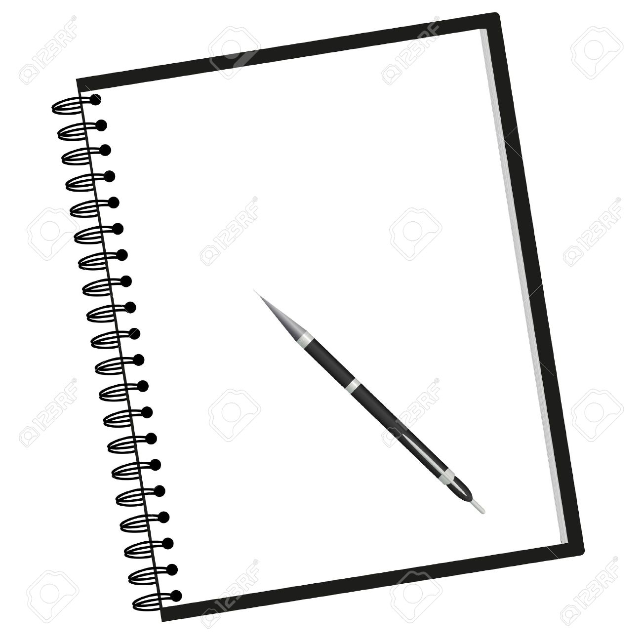 3,482 Spring Notebook Stock Vector Illustration And Royalty Free.