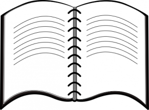 Notebook Clipart Black And White.