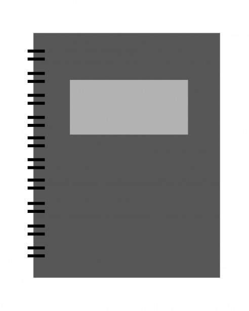 Spiral Notebook Black Clipart Free Stock Photo.