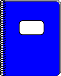 Spiral Blue Notebook Clip Art at Clker.com.