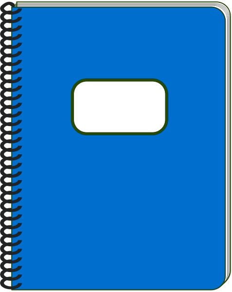 Blue Notebook Clipart#1981002.