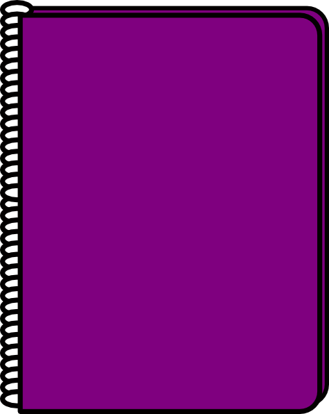Purple Notebook Clip Art at Clker.com.