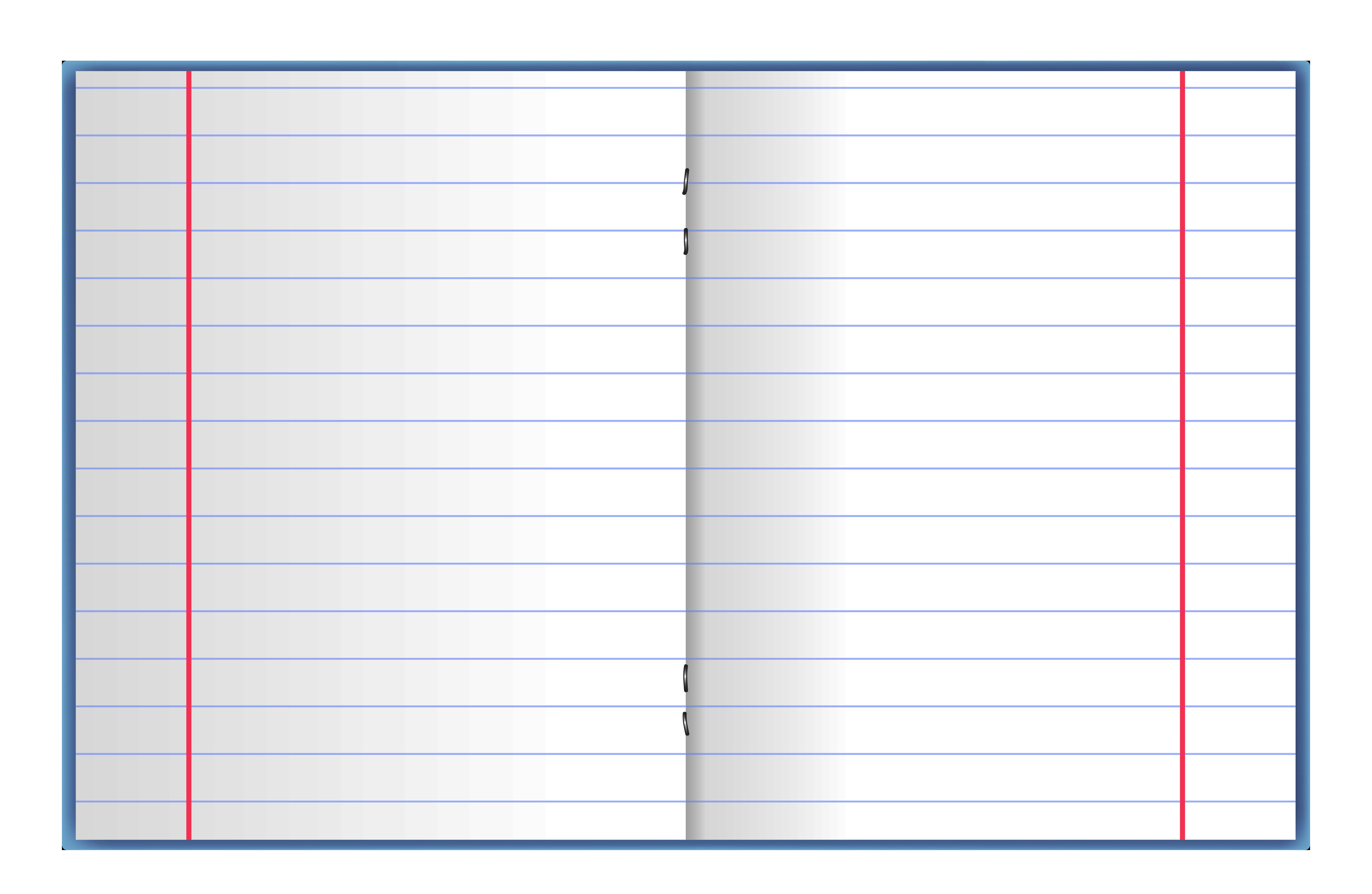 Open School Notebook PNG Vector Clipart.