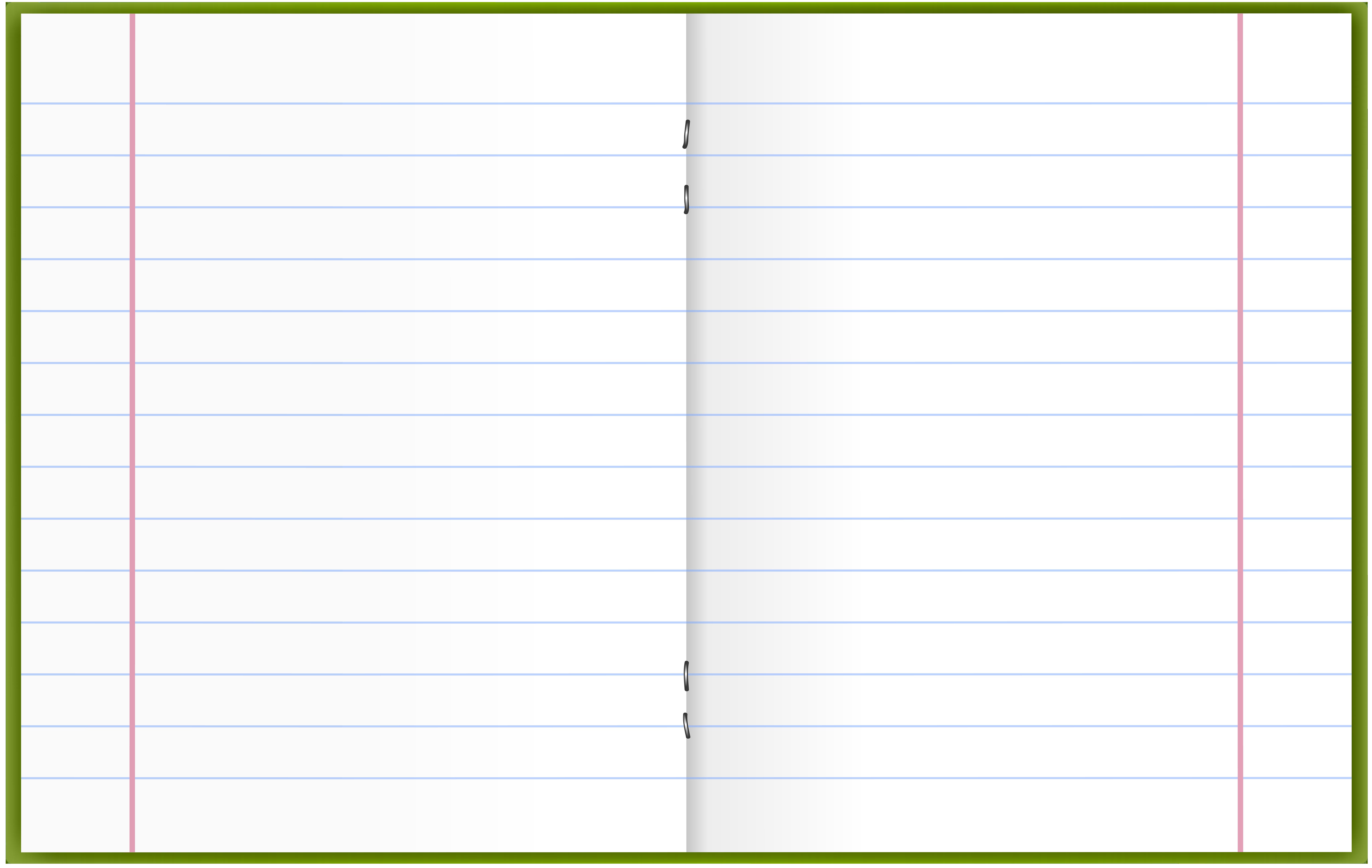 Open Notebook PNG Clip Art.