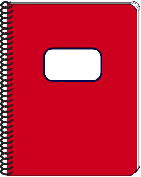 spiral notebook red.