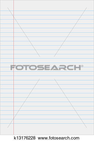 Clip Art of Notebook paper with lines k13176228.