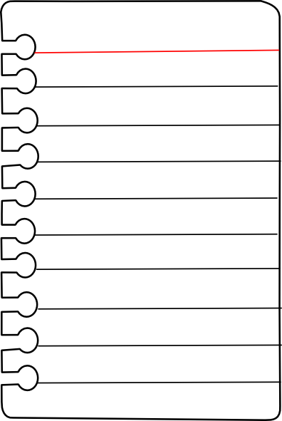 Notebook Lines Clipart.