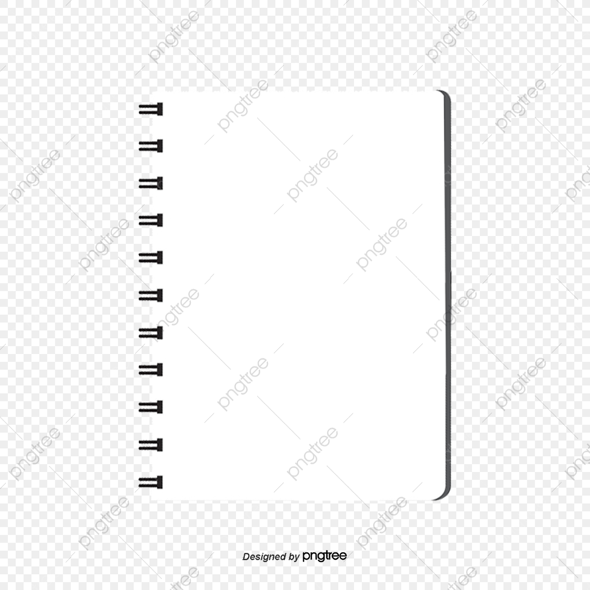 Notebook Page PNG and Vector with Transparent Background for.