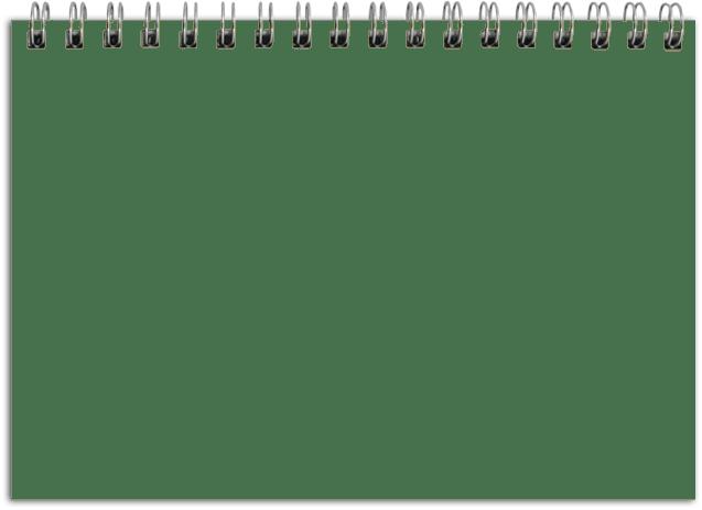 Landscape Notebook Page transparent PNG.