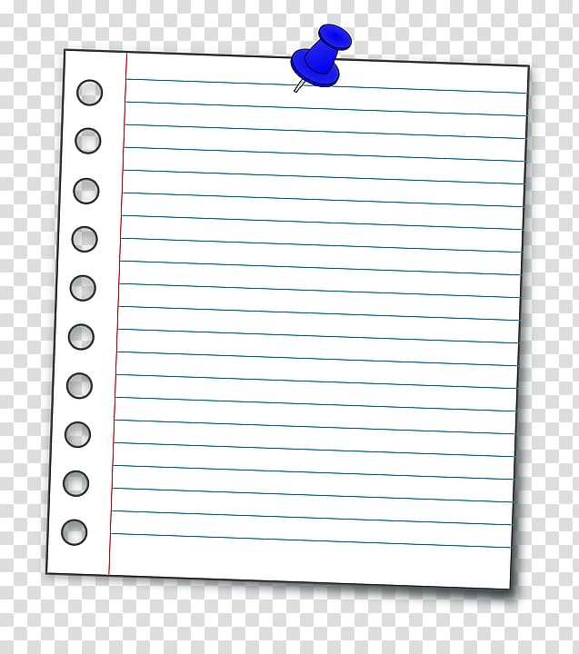 Ruled paper Notebook Paper clip , notebook page transparent.
