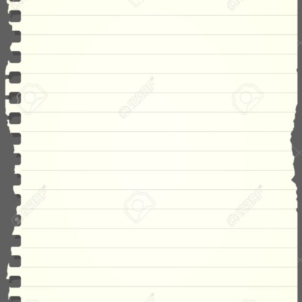 Ripped Light Green Lined Notebook Paper Is Stuck On Gray.
