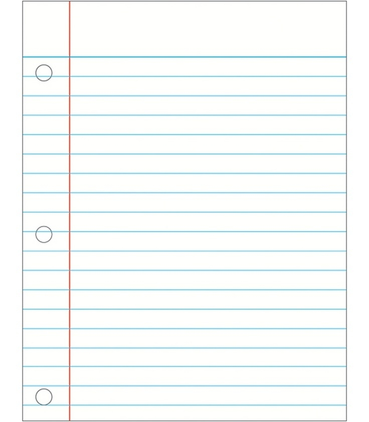 527 Notebook Paper free clipart.