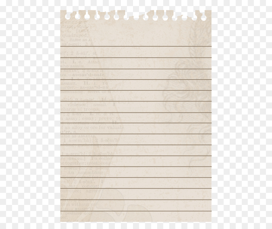 Notebook Paper png download.