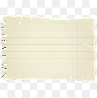Torn Notebook Paper Png.