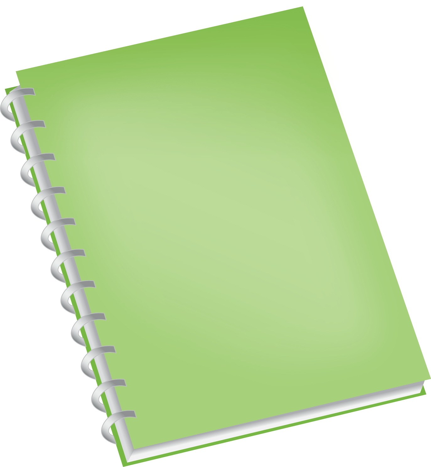 Green Notebook transparent PNG.