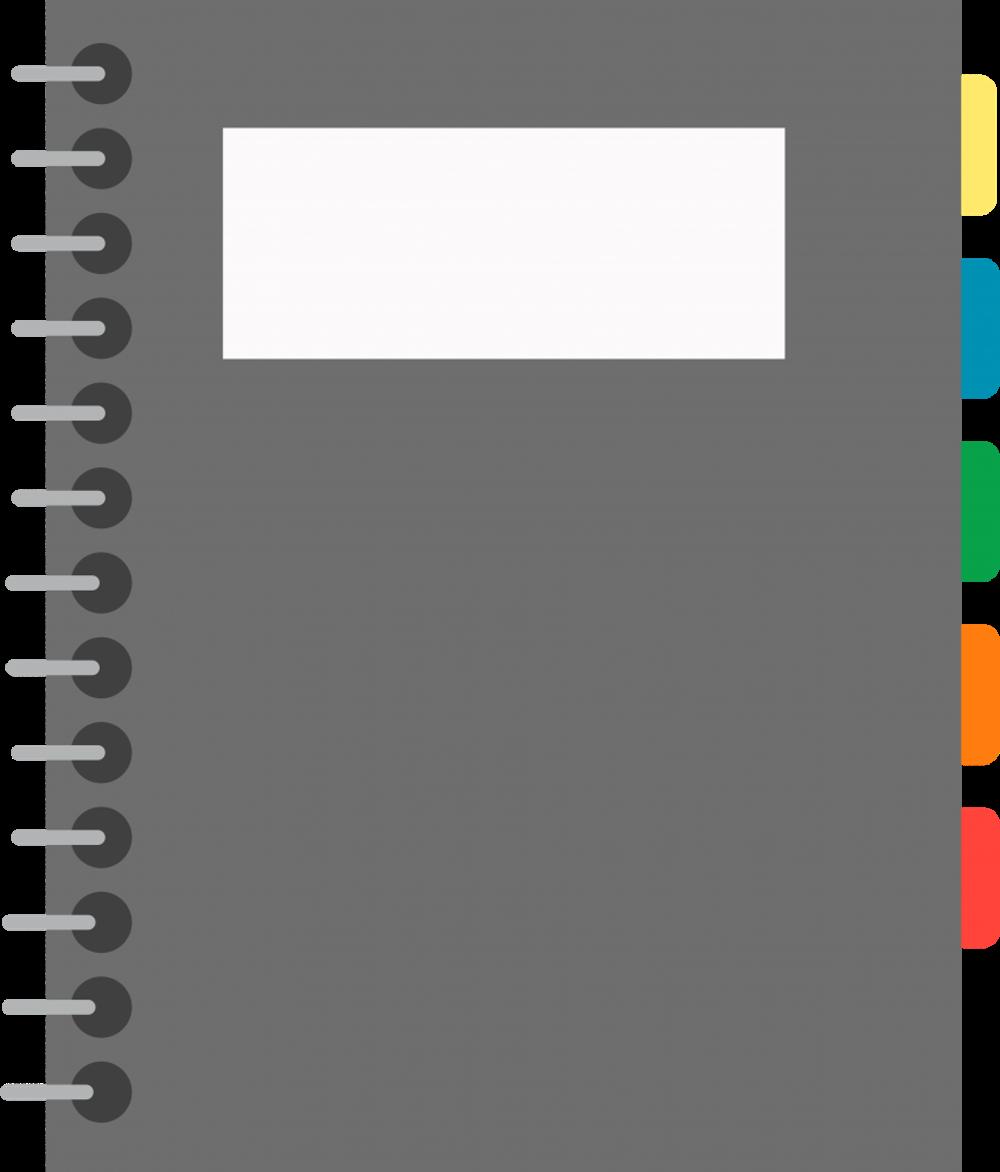 Notebook Transparent Image.