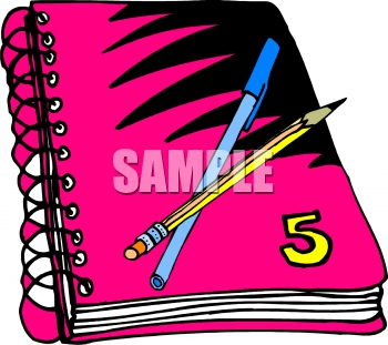 Writing Notebook Clipart#2000099.