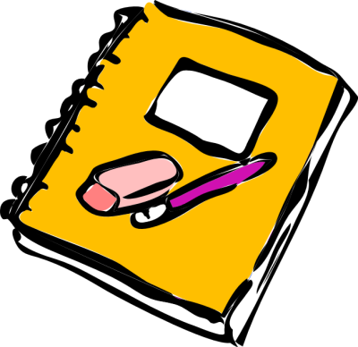 Writing In Notebook Clipart.