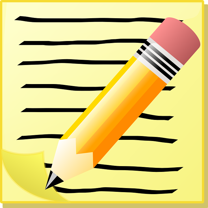 Free vector graphic: Write, Note, Memo, School, Paper.