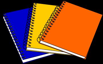 School Notebook Clipart.