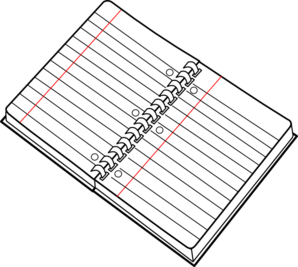 Spiral Notebook Clip Art.