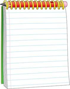 Notepad Clip Art.