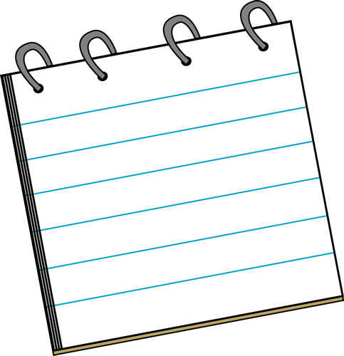Cute Notepad Clipart.