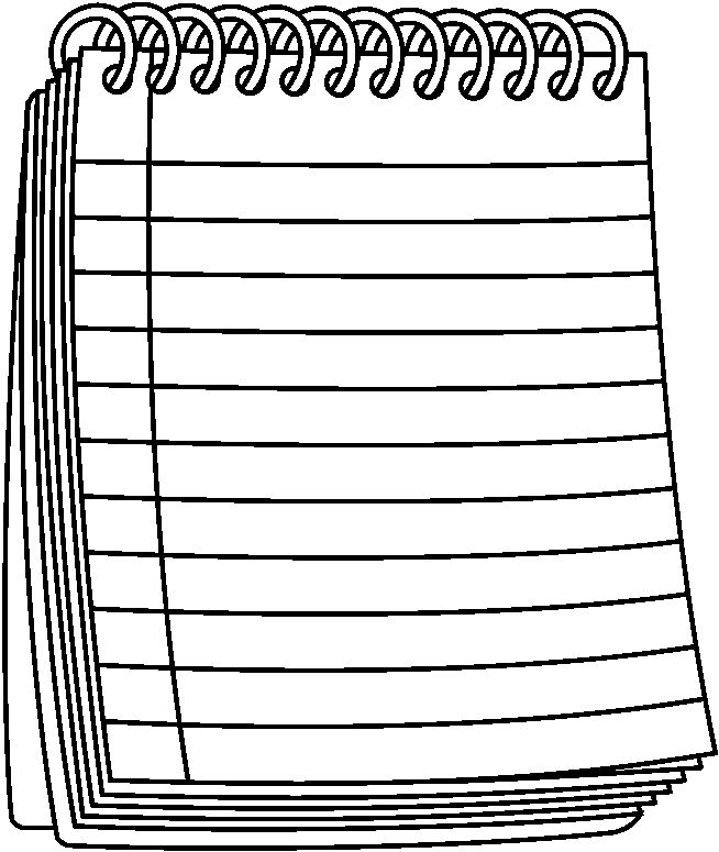Black And White Notepad Clipart.