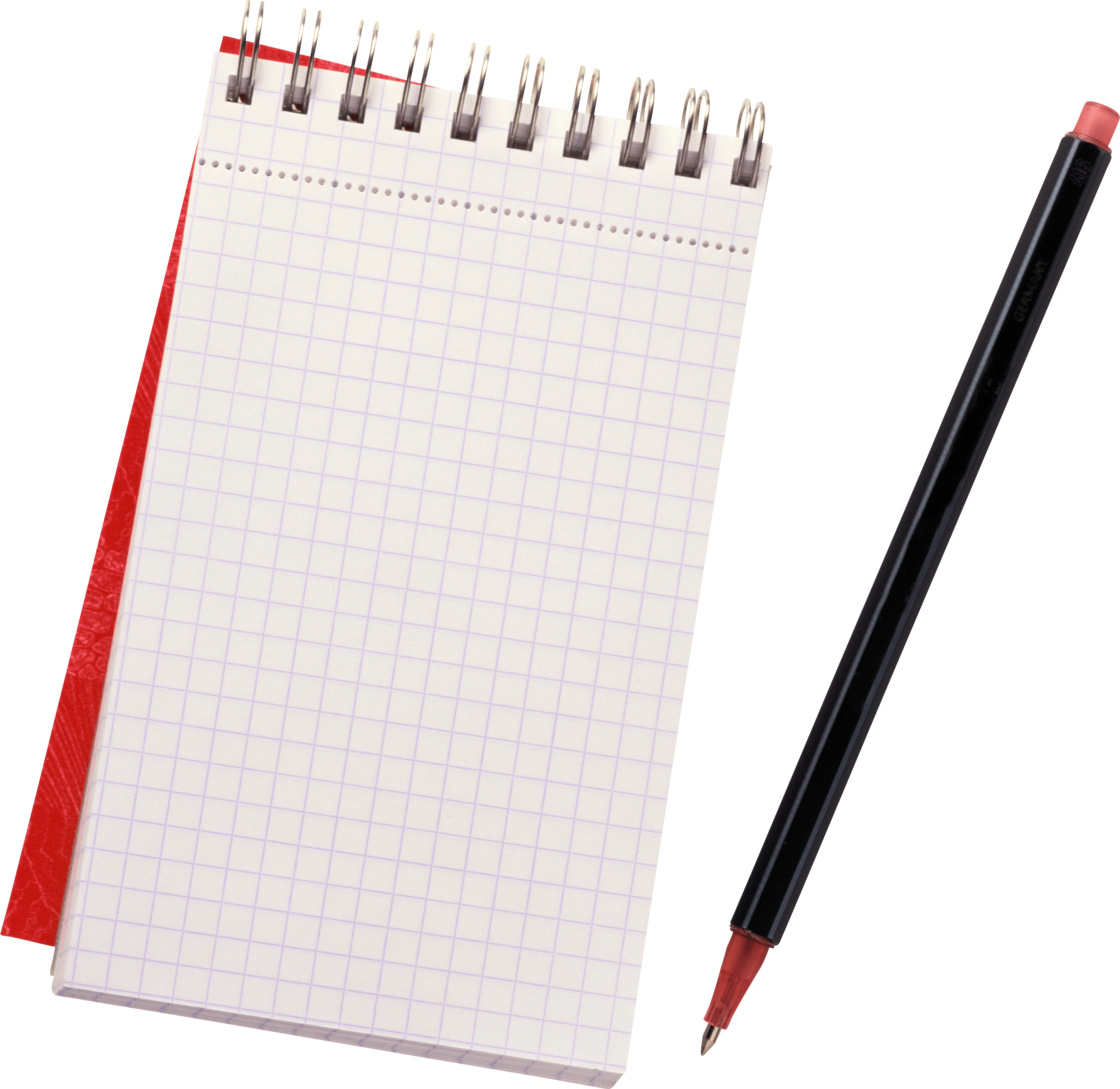 Notepad transparent PNG.