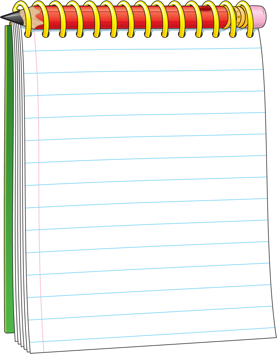 Notepad Transparent Clipart.