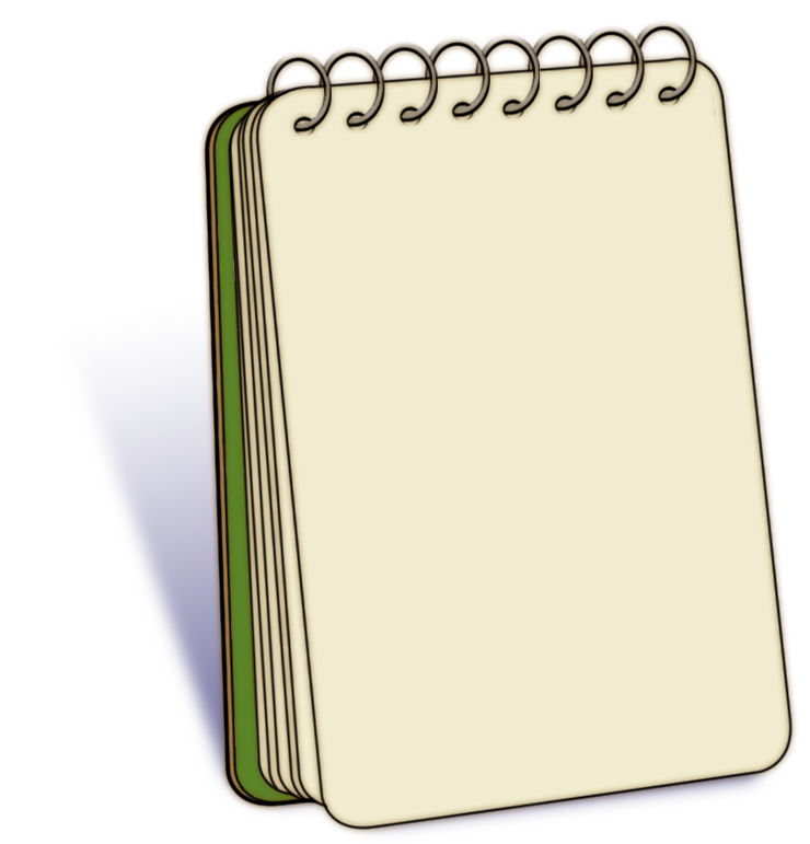 Writing pad clipart #1