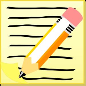 Pen And Notepaper Clip Art at Clker.com.