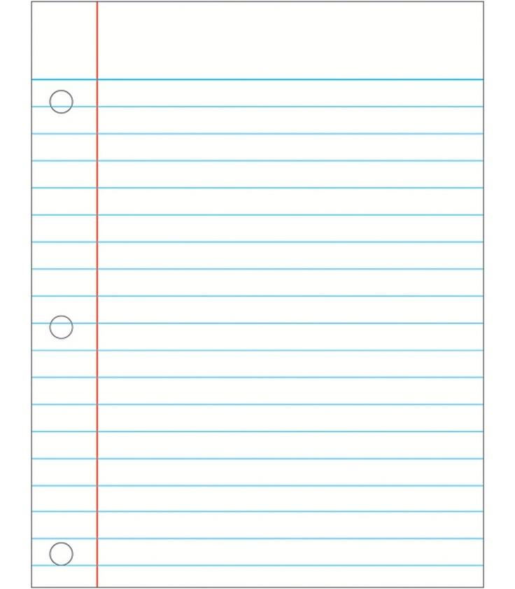 Notebook paper clip art.