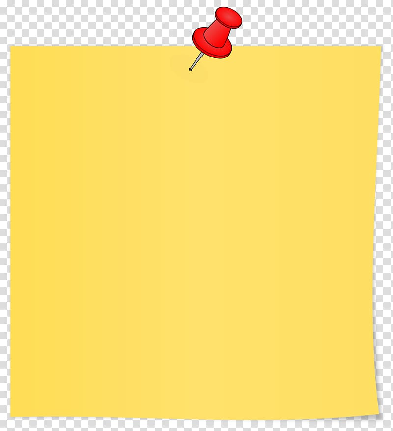 Paper Area Rectangle Yellow, sticky notes transparent.
