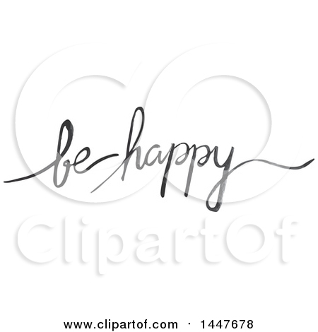 Clipart of a Grayscale Handwritten Motivational Saying, Love Is.