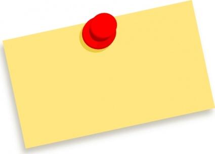 Notice board pin clipart.