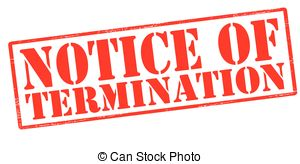 Notice of termination Illustrations and Clip Art. 163 Notice.