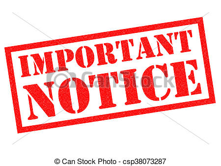 Important notice clipart 2 » Clipart Station.